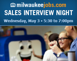 Milwaukee.Jobs is hiring! Sales Interview Night - May 3, 2017