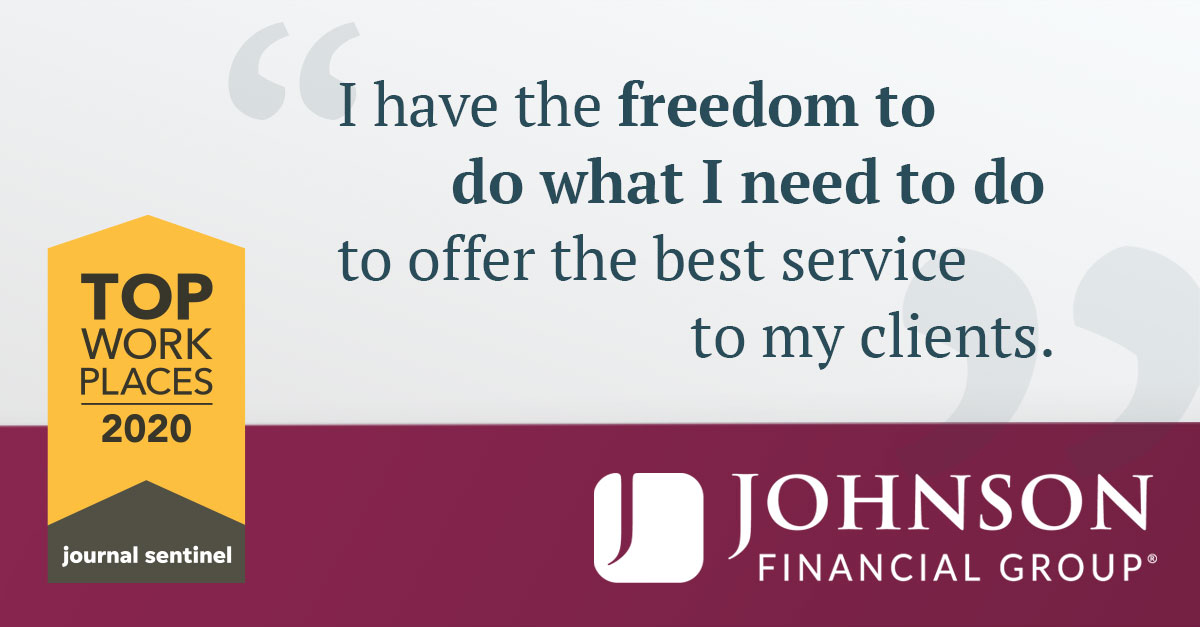 Johnson Financial testimonials