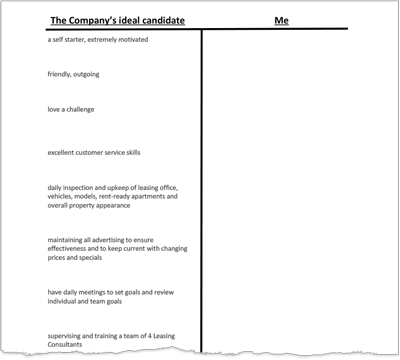 Using A T Chart To Create Your Resume Job Search Tools On