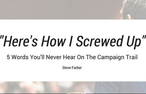 5 Words You'll (Still) Never Hear on the Campaign Trail